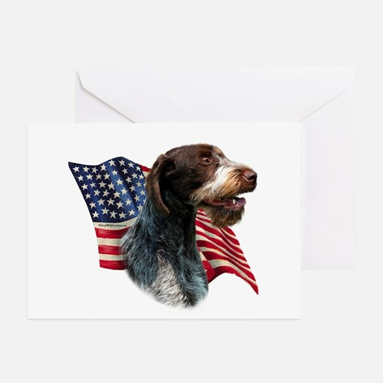 Wirehaired Flag Greeting Cards (Pk of 10)