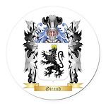 Giraud Round Car Magnet