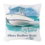 alburyboatredraw1.png Woven Throw Pillow