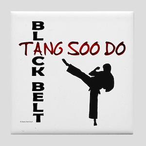 Tang Soo Do Black Belt 2 Tile Coaster