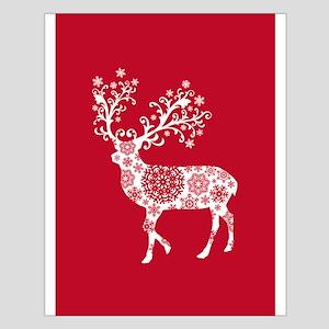 White Christmas deer Posters