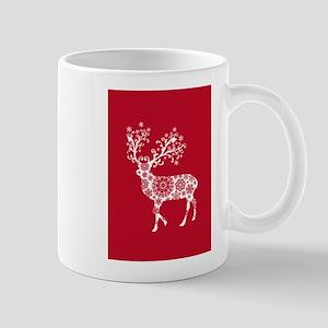 White Christmas deer Mugs