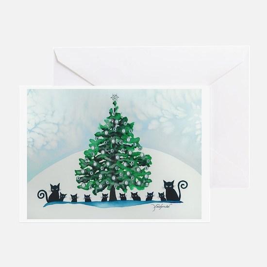 Cool Christmas kitty Greeting Card