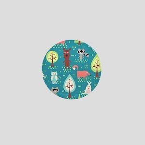 Woodland Animals Mini Button