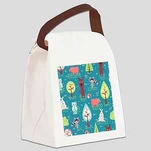 Woodland Animals Canvas Lunch Bag