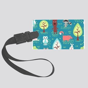 Woodland Animals Luggage Tag