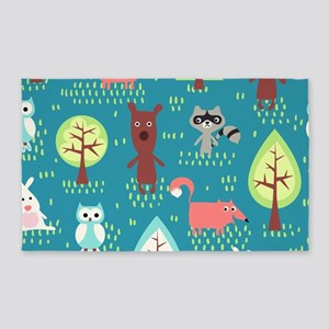 Woodland Animals 3'x5' Area Rug