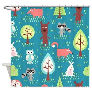 Woodland Animals Shower Curtains