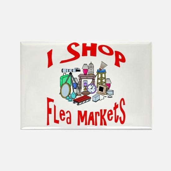 Flea Markets Rectangle Magnet
