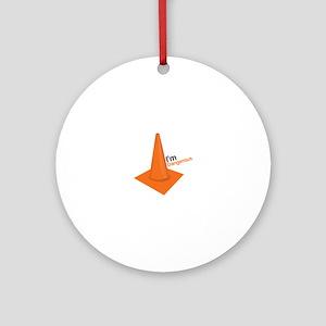 Im Dangerous Ornament (Round)