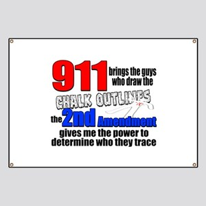 911 Chalk Outlines Banner
