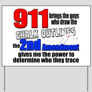 911 Chalk Outlines Yard Sign