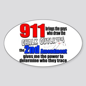 911 Chalk Outlines Sticker