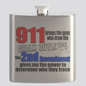 911 Chalk Outlines Flask