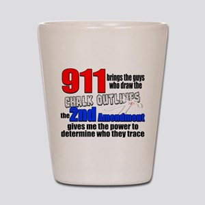 911 Chalk Outlines Shot Glass