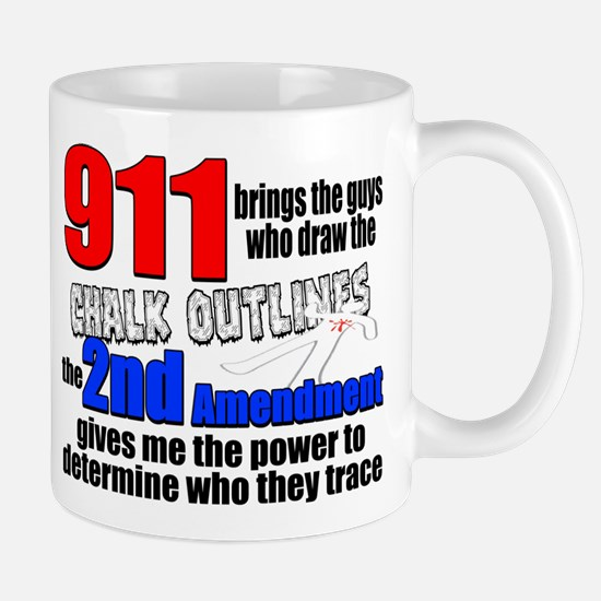 911 Chalk Outlines Mugs