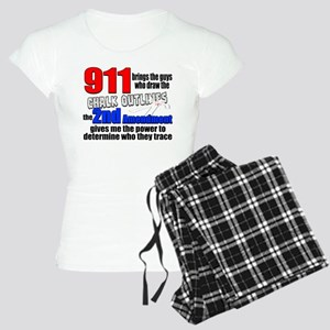 911 Chalk Outlines Pajamas