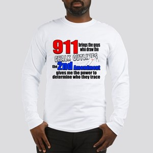 911 Chalk Outlines Long Sleeve T-Shirt