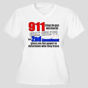 911 Chalk Outlines Plus Size T-Shirt