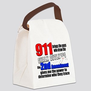 911 Chalk Outlines Canvas Lunch Bag