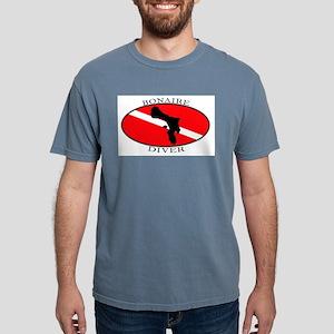 Bonaire Diver (oval) Ash Grey T-Shirt