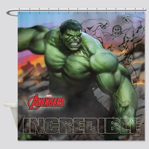 Avengers Incredible Hulk Shower Curtain