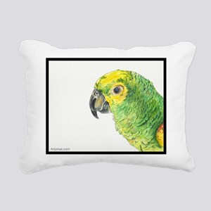 Hector the kooky kindred parrot Rectangular Canvas