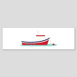 Fishing Boat Bumper Sticker