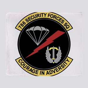786th Security Forces Squadron Throw Blanket