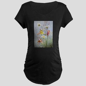 MOON DAISY FAIRIES Maternity Dark T-Shirt