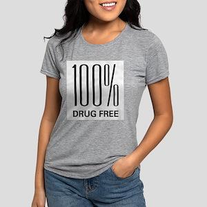 100 Percent Drug Free Ash Grey T-Shirt