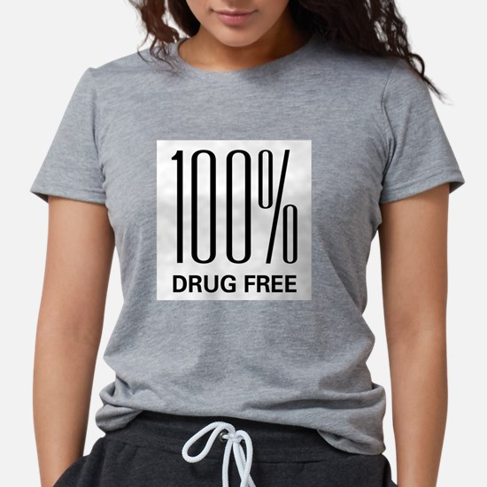 100 Percent Drug Free Ash Grey T-Shirt