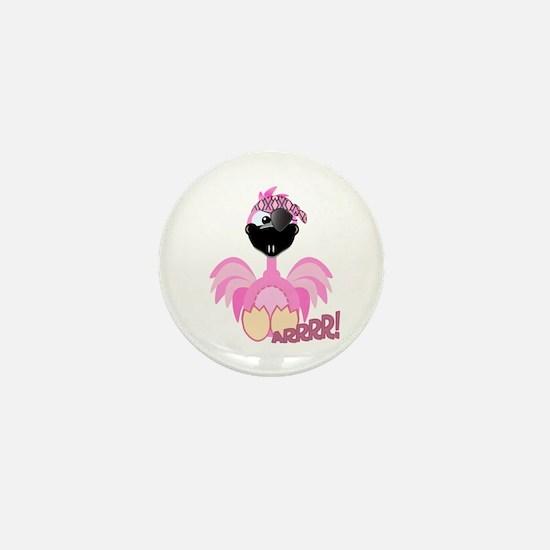 Goofkins Pink Flamingo Pirate Mini Button