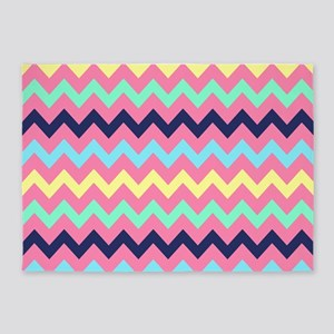 Colorful Chevron Pattern 5'x7'Area Rug