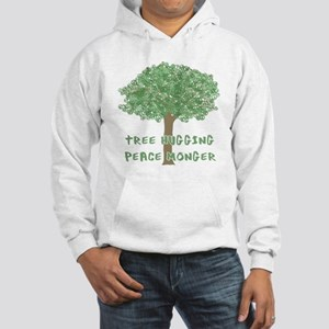 Tree Hugging Peace Monger Hooded Sweatshirt