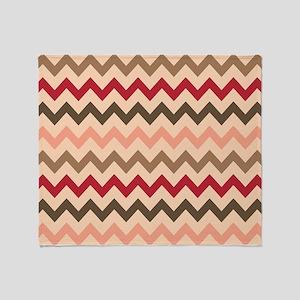 Colorful Chevron Pattern Throw Blanket
