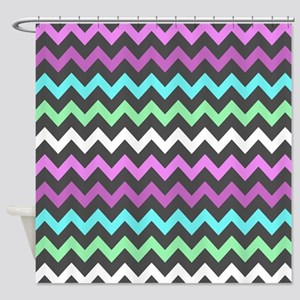Colorful Chevron Pattern Shower Curtain