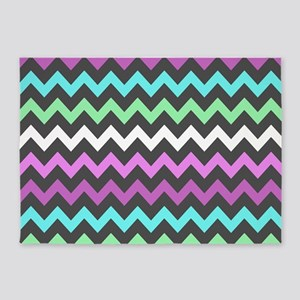 Colorful Chevron Pattern 5'x7'Area Rug