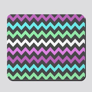 Colorful Chevron Pattern Mousepad