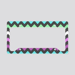 Colorful Chevron Pattern License Plate Holder