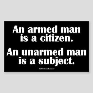 Armed Man Rectangle Sticker
