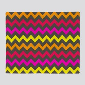 Colorful Chevron Pattern Throw Blanket