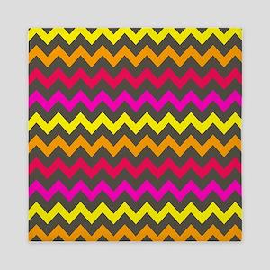 Colorful Chevron Pattern Queen Duvet