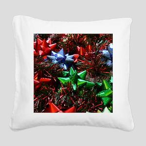 Christmas Bows Square Canvas Pillow