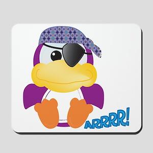 Purple Ducky Duck Pirate Mousepad