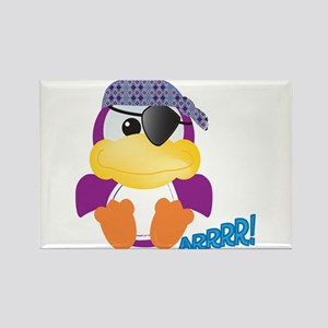 Purple Ducky Duck Pirate Rectangle Magnet