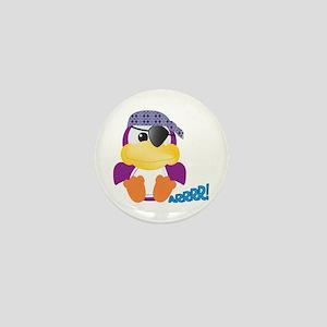 Purple Ducky Duck Pirate Mini Button