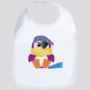 Purple Ducky Duck Pirate Bib