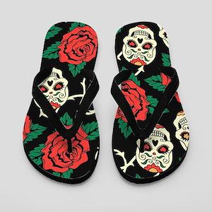5cec3cd7f Black Death Flip Flops - CafePress