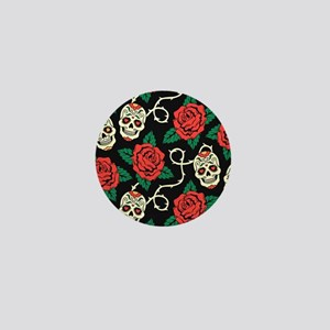 Skulls and Roses Mini Button